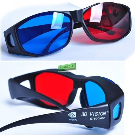 Kacamata 3D nVidia Vision Red Cyan ( Merah Biru ) Original Anaglyph - Best Seller