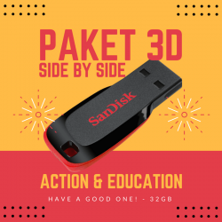 Paket Film 3D Pendek Edukasi Action Side by Side