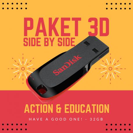 Paket Film 3D Pendek Edukasi Action Side by Side
