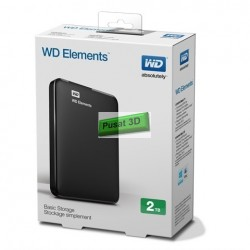 "WD Elements 2TB Slim 2,5"" Tanpa Adaptor"