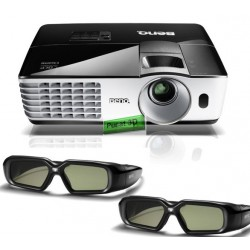 "Projector BenQ MH684 Full HD 3D+ Kacamata 3D DLP 2pcs + Screen 96"" Wall Mount + Film 100 Judul"