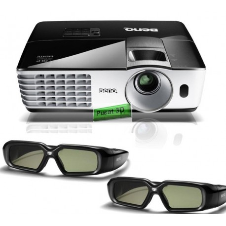 "Projector BenQ MH680 Full HD + Kacamata 3D DLP 2pcs + Screen 96"" Wall Mount + Film 100 Judul"
