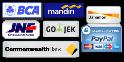 Metode Pembayaran dan Pengiriman BCA, Mandiri, Danamon, Commonwealth Bank, JNE, GoJek, dan PayPal